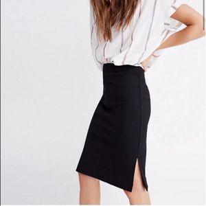 Madewell Black Stretch Column Pencil Skirt Size XS